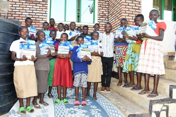 Distribution of school materials package to children