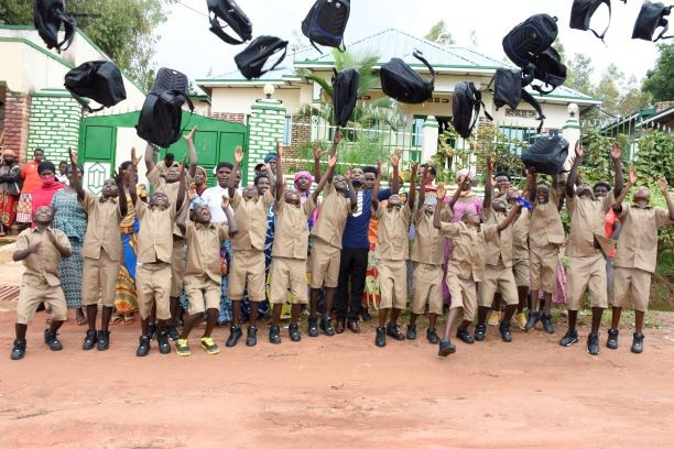 Distribution of school materials package to primary's children
