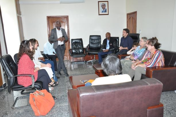 HoF's donor visited Muhanga district office