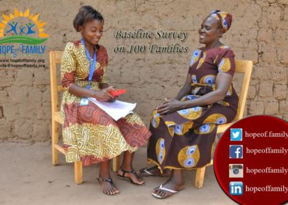 Baseline survey on 100 families