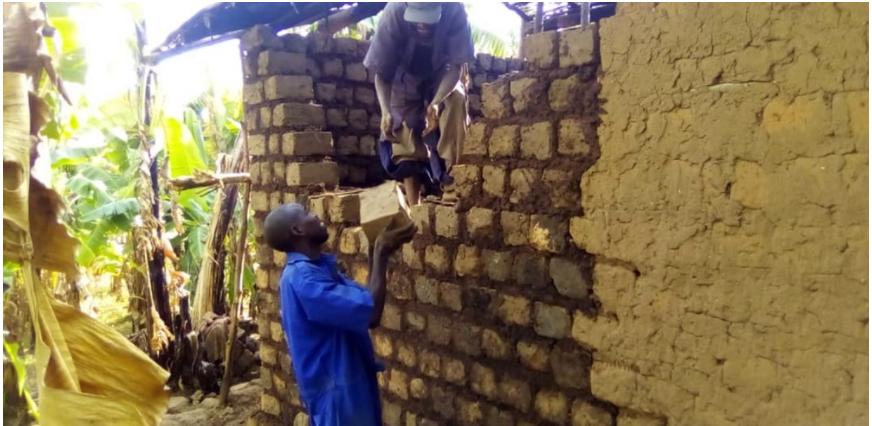 Hope of Family rehabilitates more Houses as time for rain season is coming