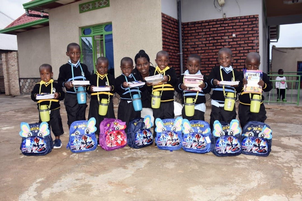 hope of family provides school materials to 186 children